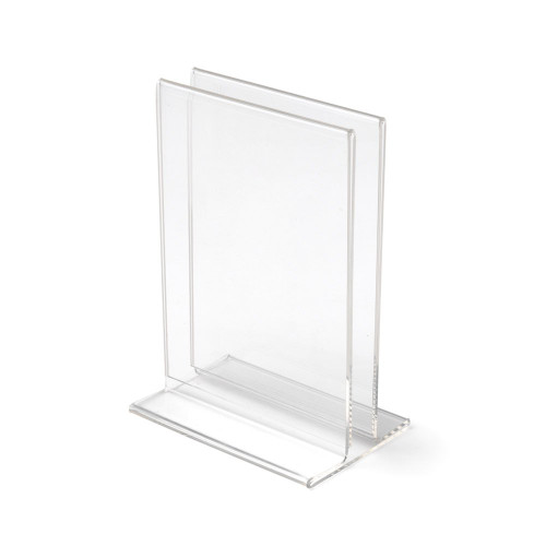Clear Double-Sided Sign And Menu Holder - A5