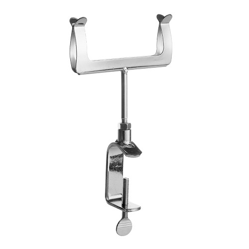 Chrome Clamp-On Card Holder For Heavy Duty Clothes Rail