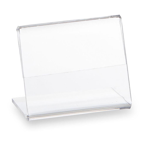 Pack of 10 Clear Acrylic Label Holder - H50 x W40 x D43mm