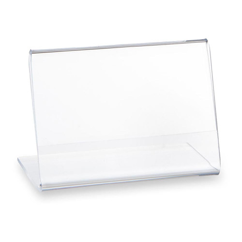 Pack of 10 Clear Acrylic Label Holder - H75 x W50 x D53mm