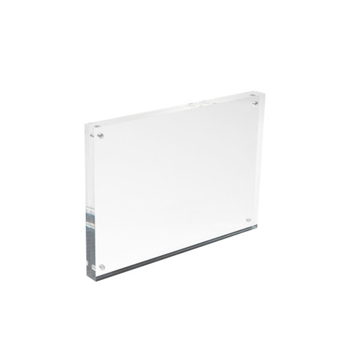 Magnetic Acrylic Block Sign Holder - A5