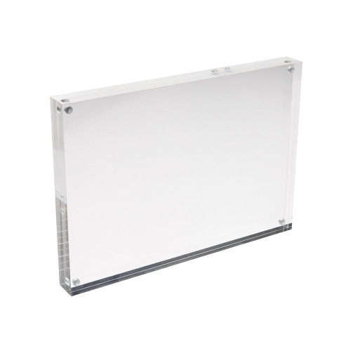 Magnetic Acrylic Block Sign Holder - A4