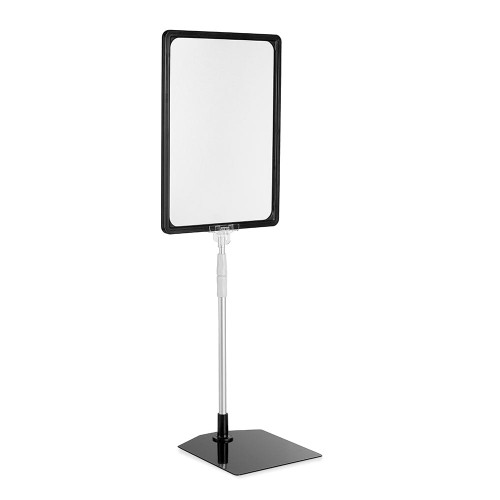 Display Stand with Black Versatile Poster Frame and Anti-Reflective Pocket - A4