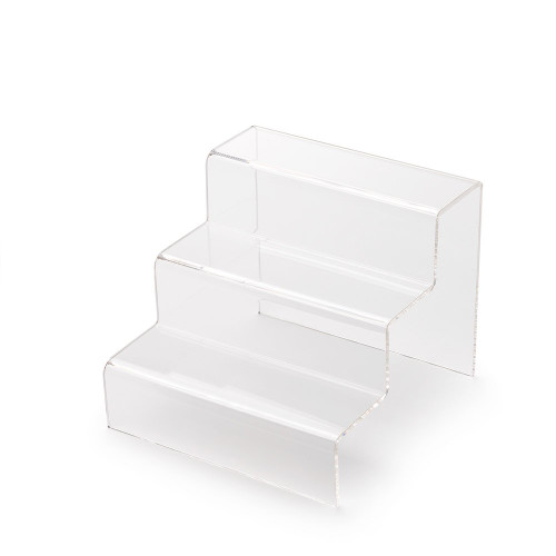 3 Step Clear Acrylic Display Stand - Small