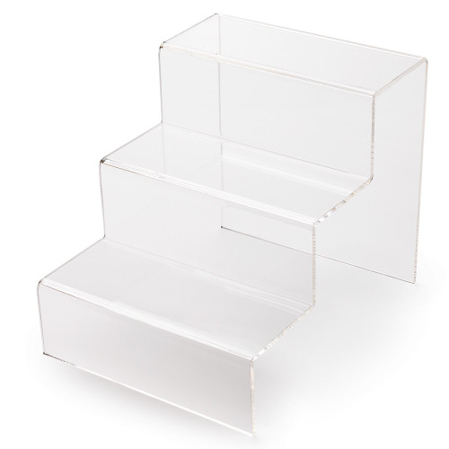 3 Step Clear Acrylic Display Stand - Large