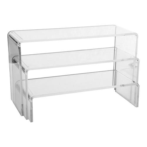 Set of 3 Clear Acrylic Display Bridges - Large- H50, 100, 150mm