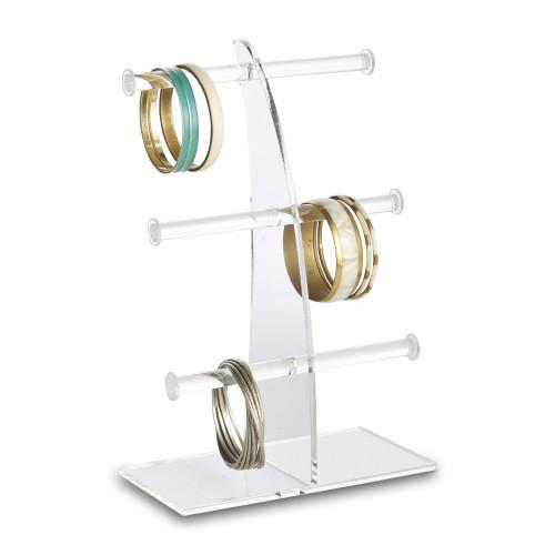 Clear Acrylic Bangle Display Stand - 3 Tier