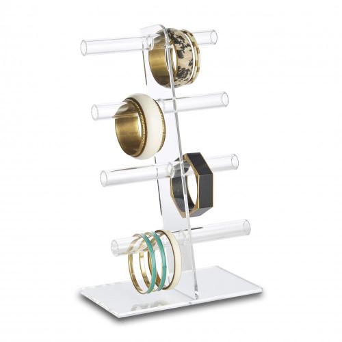 Clear Acrylic Bangle Display Stand - 4 Tier