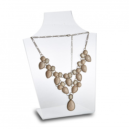 Clear Acrylic Necklace & Earring Display Stand