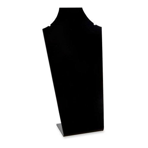 Black Acrylic Necklace Display Stand with Notches - H300mm