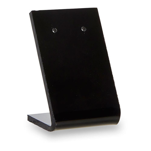 Pack of 10 Black Acrylic Earring Display Stand with 2 Holes