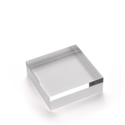 Medium Acrylic Solid Display Block - H25 x W75 x D75mm