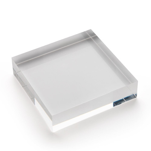 Large Acrylic Solid Display Block - H25 x W100 x D100mm