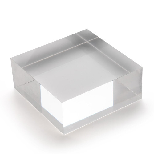 Large Acrylic Solid Display Block - H40 x W100 x D100mm