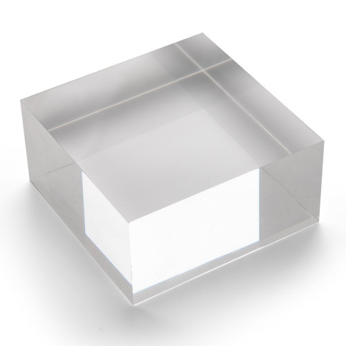 Large Acrylic Solid Display Block - H50 x W100 x D100mm