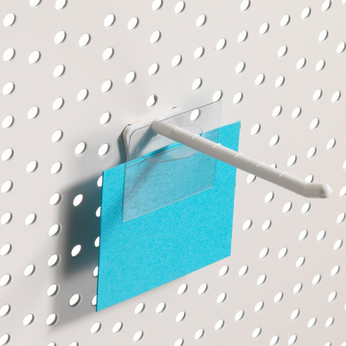 Pack of 50 Clear Adhesive Euro Slot Hang Tabs - H42mm x W51mm