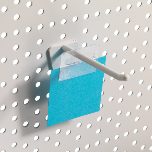 Pack of 20 Clear Adhesive Euro Slot Hang Tabs - H41 x W31.7mm
