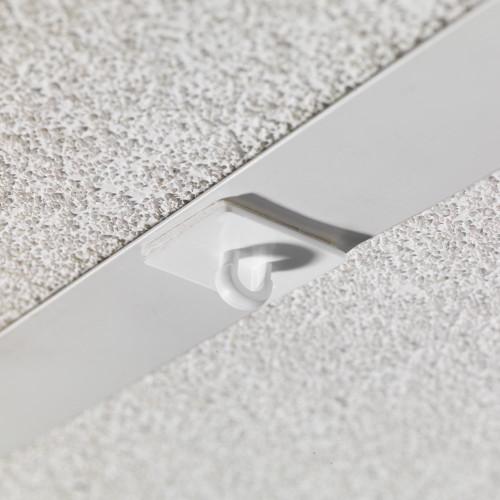 Pack of 20 White Self-adhesive Ceiling Loop