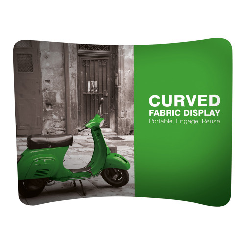 Curved Fabric Exhibition Stand - With Single-Sided Graphics