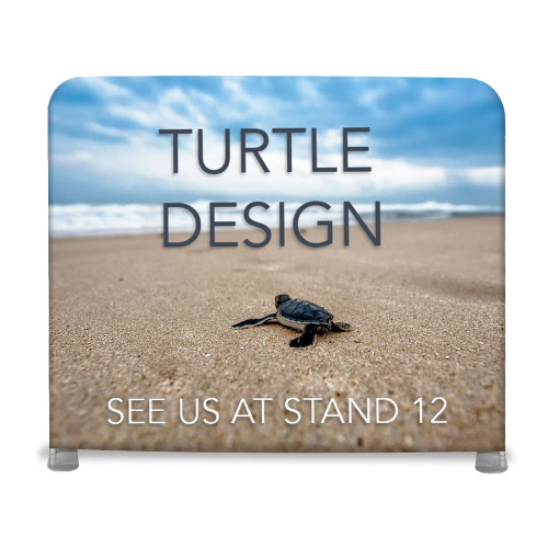 Straight Fabric Exhibition Stand - With Single-Sided Graphics