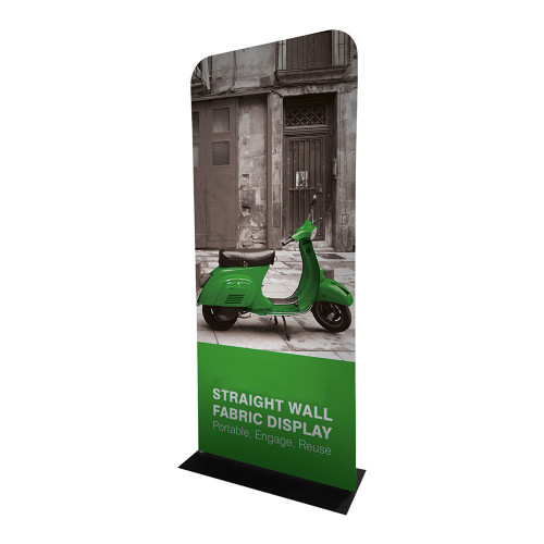 Straight Fabric Banner Stand - With Single-Sided Graphics