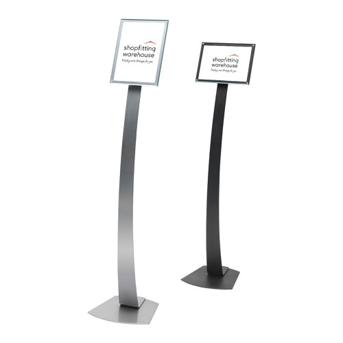 A4 Contemporary Floor-Standing Sign Holder - H1457 x W335 x D303mm