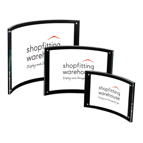 Curved Magnetic Sign Holder - 8mm Thickness