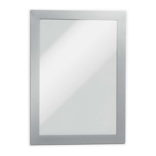 Silver Duraframe Magnetic Frame for Metal Surfaces