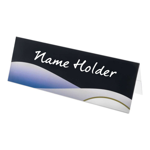 Clear Desktop Name and Sign Holder