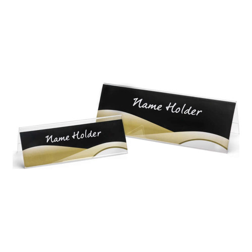 Premium Acrylic Desktop Name and Sign Holder