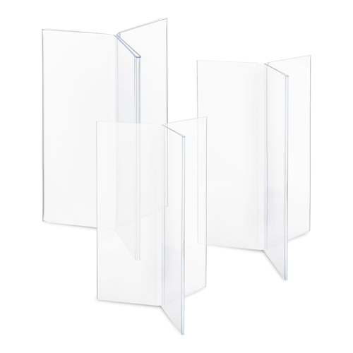 Clear Three-Sided Menu Holder