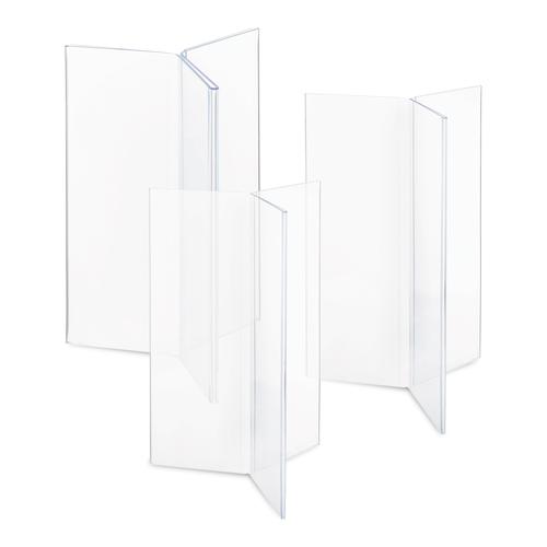 Clear Three-Sided Menu Holder