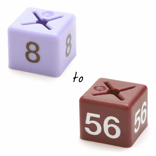 Size Cubes- One Size Per Pack of 50 - Sizes 8 to 56 Available