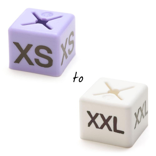 Size Cubes- One Size Per Pack of 50 - Sizes XS to XL Available