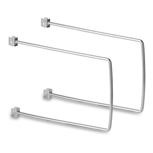 Pair of Chrome Flexible Twin Slot Bookends