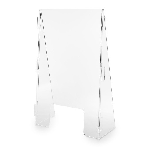 Acrylic Protective Screen With Side Supports (5mm Acrylic)