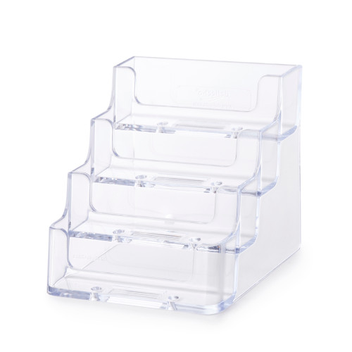Clear 4 Tier Business Card Holder