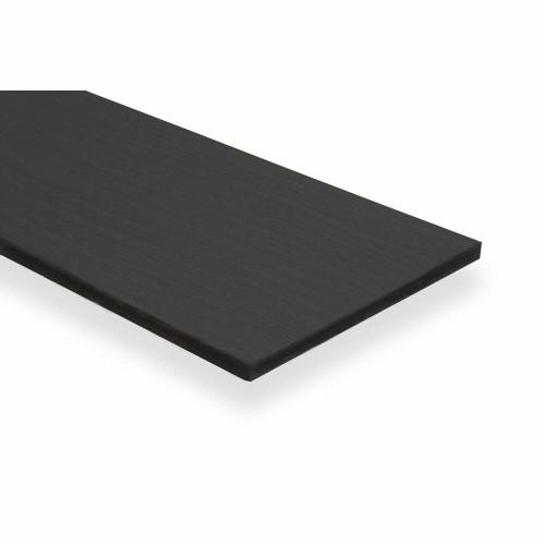 Black Wooden Shelf Board - W600mm - 19mm Thick