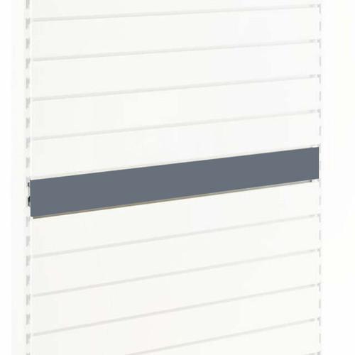 Silver Slatwall Back Panel for Retail Shelving Units - H100mm