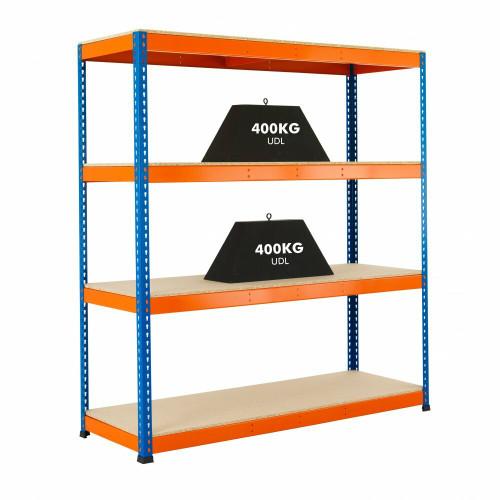 Heavy Duty Warehouse Racking - 400kg Max UDL/Shelf - H1980 x W1830