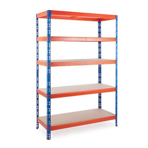 Multipurpose Keyhole Commercial Shelving - 350Kg UDL/shelf - H1800 x W1200 x D500mm
