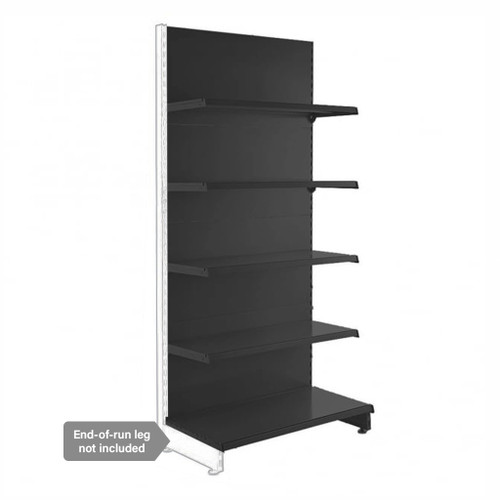 Black Retail Shelving Modular Wall Unit - 4 x 370mm Shelves