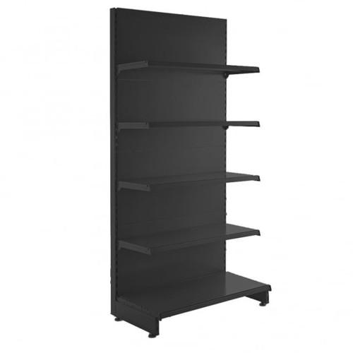 Black Retail Shelving Starter/Complete Wall Unit  - 4 x 370mm Shelves