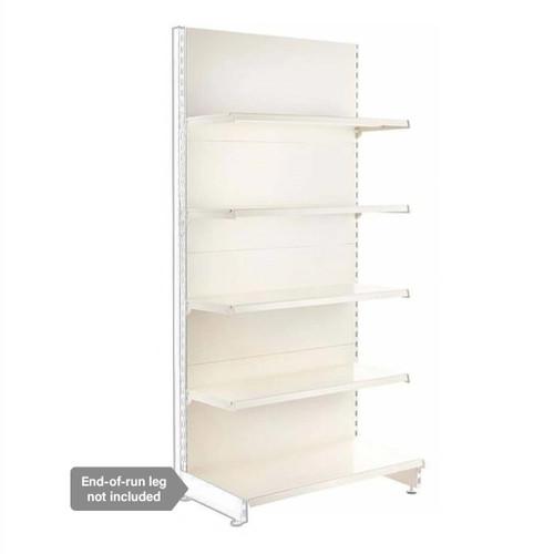 Jura White Retail Shelving Modular Wall Unit - 4 x 370mm Shelves - H2100mm