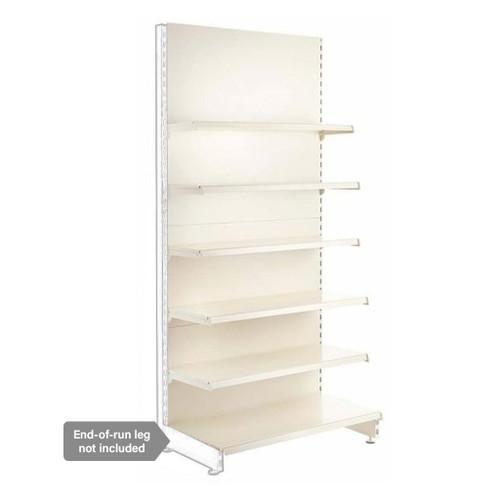 Jura White Retail Shelving Modular Wall Unit - 5 x 370mm Shelves - H2100mm