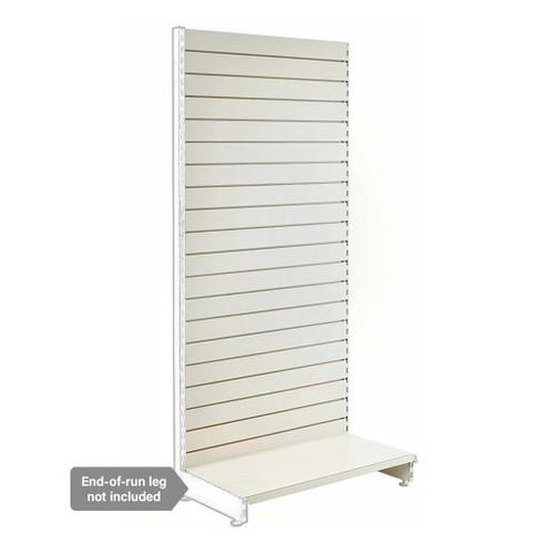 Jura White Retail Shelving Modular Wall Unit - Slatwall Back Panels - H2100mm