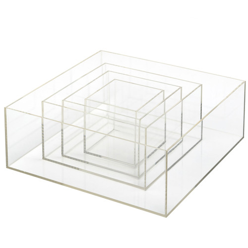 Set of 4 Acrylic Nested Boxes H300 x W300 x 110mm