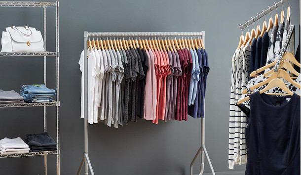 Chrome Wire Garment Racks for fabulous space-saving retail displays