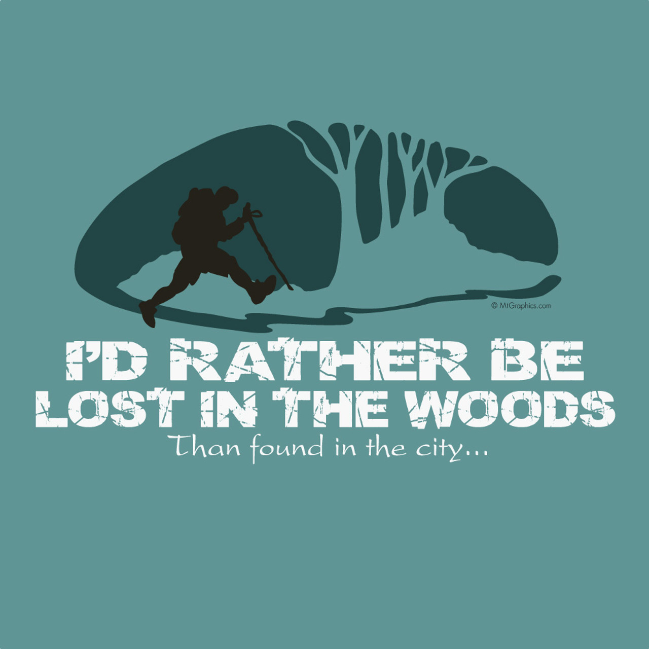 Wholesale Rather Be Lost Hiker Mountain Graphics