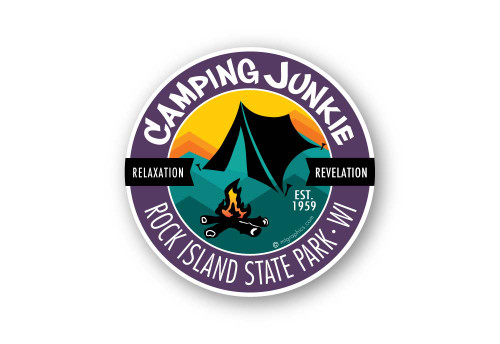 Wholesale Camping Junkie Sticker